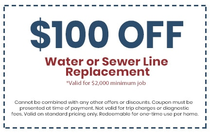 Discount on Water or Sewer Line Replacement