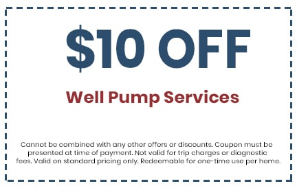 Discount for Well Pump Services