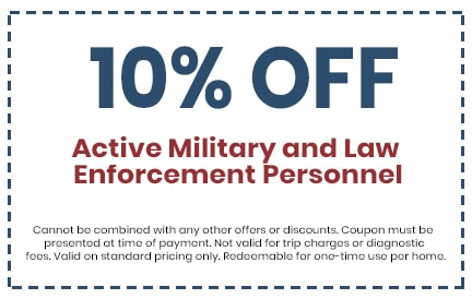 Discount for Active Military and Law Enforcement Personnel